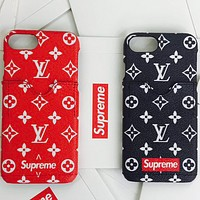 LV & Supreme men and women trendy trend printing phone case F-AL-BSYHD