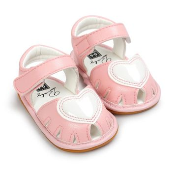 Cute Baby Sandals Fashion Baby Clogs Cute Soft Bottom Non-slip Baby Princess Shoes Baby Girls Love Kids Shoes