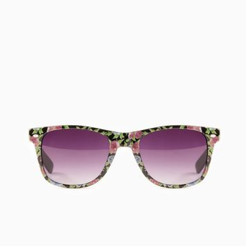 ShopSosie Style : Rosy Posy Sunglasses in Black