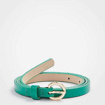 Skinny Leather Belt | Ann Taylor