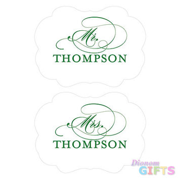 Personalized Mr. & Mrs. Paper Chair Markers
