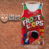 Fruit Loops Fullprint Adult Tanktop. Men and Ladies Tanktop