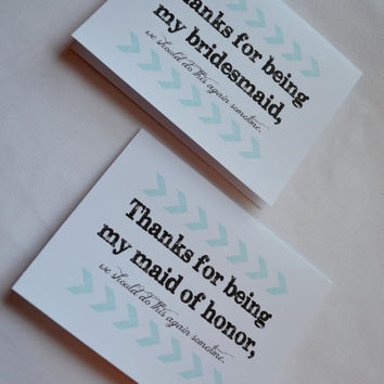 Thank you Bridesmaid Card funny thank you Card arrow Bridesmaid Card Funny Bridesmaid Card funny Maid of Honor thank you cards arrow thanks
