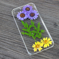 Pressed flowers case For iPhone 4 4s 5 5s 6 6 plus Samsung S3 S4 S5 Note 2 Note 3 Note 4 cover