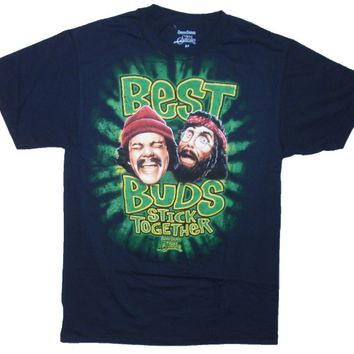 Cheech & Chong's Best Buds Stick Together Graphic T-Shirt - Large