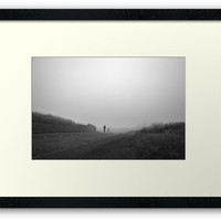 Cyclists in the fog by Errne