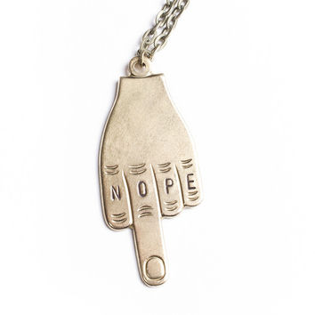 The Betty Collection: Nope Middle Finger Necklace