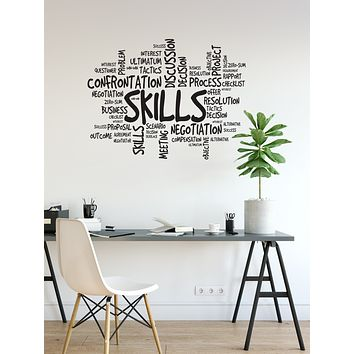 Vinyl Wall Decal Skills Office Space Room Business Success Words Stickers Mural (ig6182)
