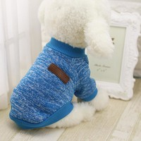 PET CLASSIC SWEATER WINTER WARM COAT PUPPY DOG OUTFIT CLOTHING.