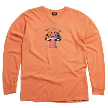 Shroom Pigment Dyed Longsleeve T-Shirt Coral