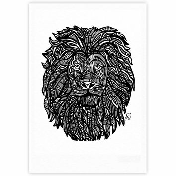 "Adriana De Leon ""The Leon"" Lion Illustration Fine Art Gallery Print"