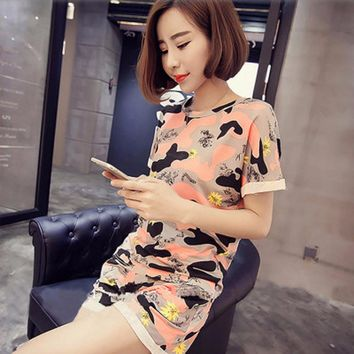 Summer pajamas for woman Short sleeve shorts Home clothes Furnishing serve Cartoon pajamas lady pyjamas