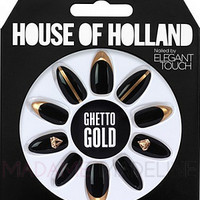 House Of Holland Nails By Elegant Touch - GHETTO GOLD, Nails - Madame Madeline