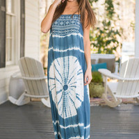 Flow With The Wind Maxi, Indigo