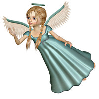 Angel Image, Angel Cutout, 3D Angel Template, Large 3D Angel Graphics Sheet [[Flying Angel]] Transfer Template,Transparent Background,Angel