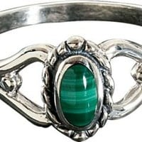 Silver Legends Malachite Ring Zoom : Cabela's