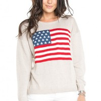 Brandy ♥ Melville |  Suzie American Flag Sweater - Just In