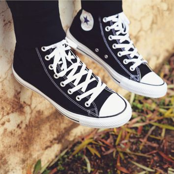 """Converse"" Fashion Canvas Flats Sneakers Sport Shoes Hight top Black"