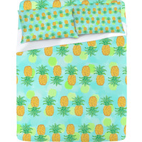 DENY Designs Home Accessories | Lisa Argyropoulos Pineapples And Polka Dots Sheet Set