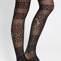 Paisley Floral Openwork Tight
