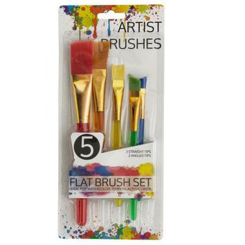 Artist Flat Paint Brush Set