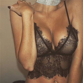 Lace Hollow Out Underwear Bra