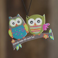 Car  Air  Fresheners:  Owl  Friends  Air  Freshener  From  Natural  Life