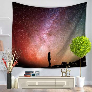 Galaxy stars Printing Indian Mandala Tapestry Wall Hanging Tapestries Boho Bedspread Yoga Mat Blanket Bed Table Cloth
