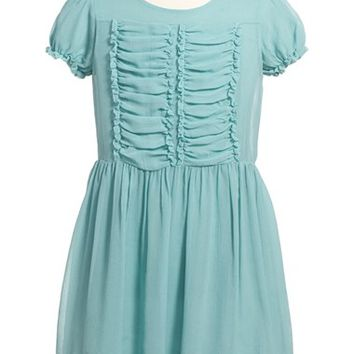 Girl's Burberry 'Hailee' Ruffle Dress,