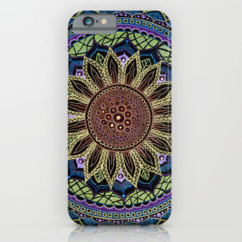Sunflower Mandala iPhone & iPod Case by YiaEfthimia