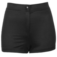 Petite Shiny High Waist Shorts