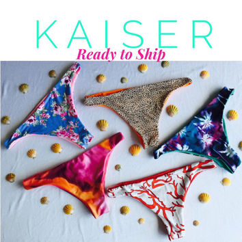 KAISERS: Ready To Ship REVERSIBLE Brazilian Bikini Bottoms