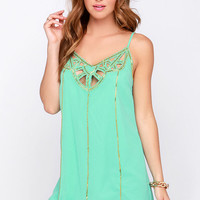 Cutout to Sea Mint Beaded Dress