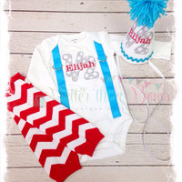 Boys 1/2 Birthday Outfit,Baby Boys 6mo Birthday Set,Baby Boys Half Birthday Outfit,Photo Props,Baby Boys Clothes,Baby Leg Warmers, Cone Hat