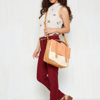 Agree to Master's Degree Bag in Apricot   Mod Retro Vintage Bags   ModCloth.com