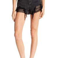 BLANKNYC Denim | Black Fishnet High Rise Shorts | Nordstrom Rack