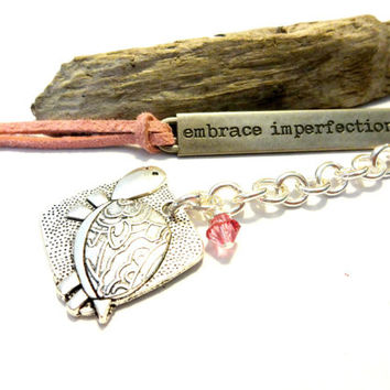 Embrace Imperfection Tortoise Bookmark