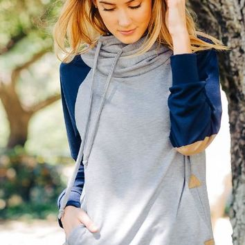 Two Toned Gray Sweater
