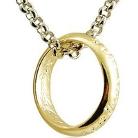 New Hot Lord Of The Rings Gold Ring Pendants& Silver Chain Necklace LOTR The Hobbit Fashion Jewelry