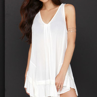 Sun-Shiny Day Ivory Tunic Top