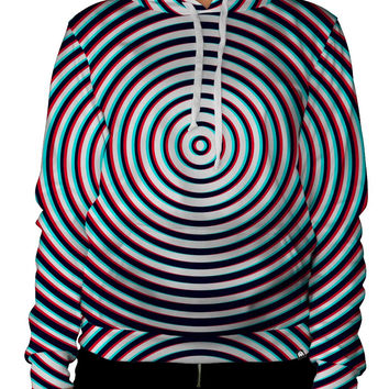 iHeartRaves Optical Illusion Unisex All Over Print Hoodie