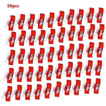 NEWEST FASHION 50pcs/100pcs Mini Hemming Clips for Crafts Pack Quilting Sewing Knitting Crochet