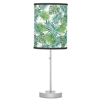 Green Fern Garden Plant Leaves Nature Tropical Desk Lamp
