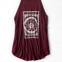 AEO 's Soft & Sexy Graphic Tank (Maroon Lagoon)