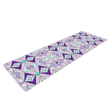 "Pom Graphic Design ""Geometric Flow"" Lavender Geometric Yoga Mat"