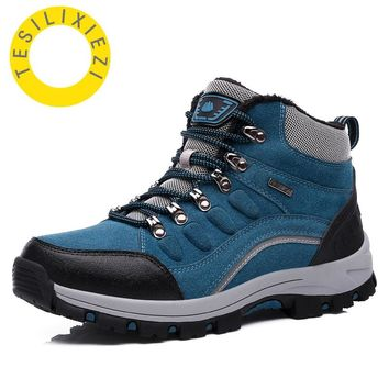 Winter High Cut Unisex Hiking Shoes Adult Athletic Shoe Men Outdoor Trekking Boots Climbing Sports Rubber Women Waterproof
