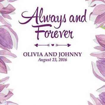 Custom Floral Watercolor Wedding Announcement Printed Backdrop (Bridal Shower, Baby or Birthday Background) - C094
