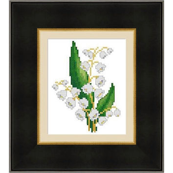 Lily of the valley -  PDF Cross Stitch Pattern - INSTANT DOWNLOAD