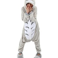 Unisex Women's Men's Jumpsuit Cosplay Costume Pajama Onesuit (L(for Height 65-68.8in), color 4)