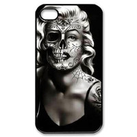 Marilyn Monroe Fashion Half Skull Face Case for iphone 4 4s 5 5s 5c 6 6s 6plus 6s plus Celebs